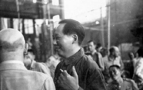 毛泽东重庆[ZhongQing]谈判未公开照